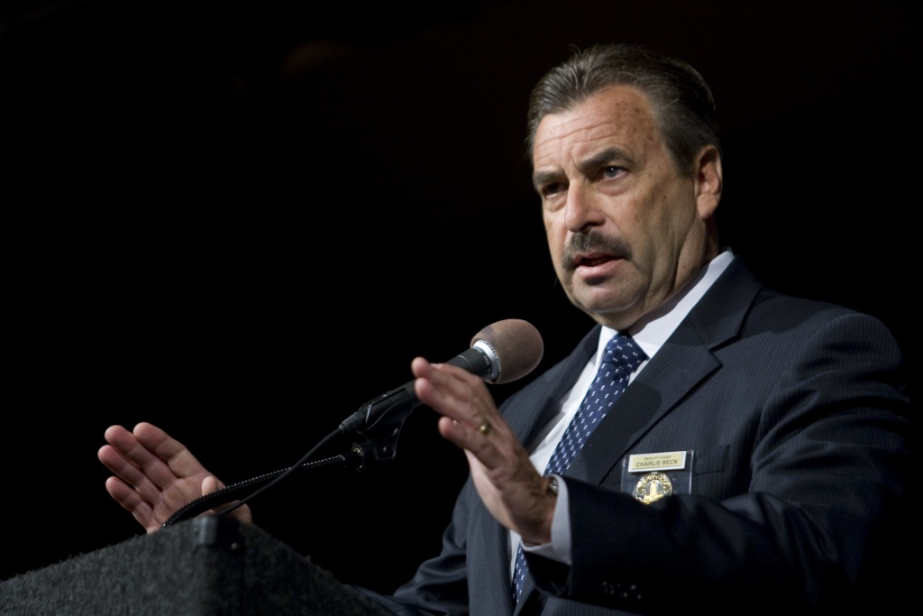 File photo: LAPD Chief Charlie Beck.
