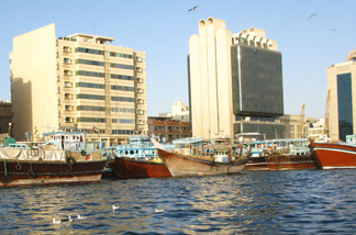 Wooden boats known as dhows are used in trade between Dubai and Iran. The emirate has long been an economic lifeline for Iran, despite U.N., U.S. and EU sanctions against Tehran's nuclear program. But new financial restrictions imposed on Dubai by the United Arab Emirates' capital, Abu Dhabi, have made Iran-Dubai trade more difficult.