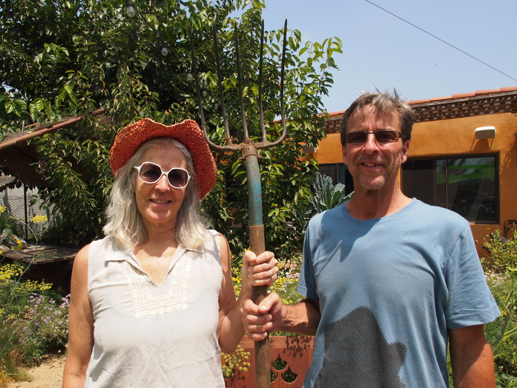 Farmer Kathleen Blakistone and partner Richard Draut