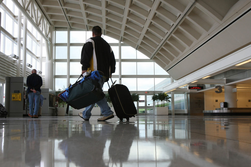 The City of Ontario has filed a legal claim to gain control over the L.A./Ontario International Airport. Some Inland Empire leaders this week criticized a plan by Los Angeles airport commissioners to increase the number of passengers at  the Ontario airport. (L.A./ Ontario International Airport. Photo by David McNew/Getty Images)