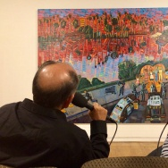 (L-R) Cheech Marin and Frank Romero, the Museum of Latin American Art in Long Beach