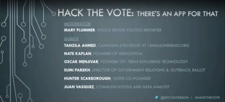 Hack the vote: There's an app for that