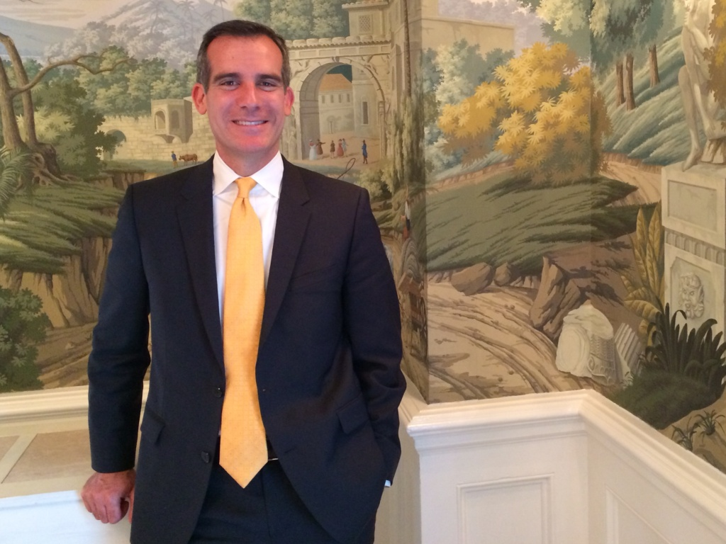 Mayor Eric Garcetti marks one year in office this week.