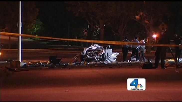 A Newport Beach crash that killed five Irvine teens on Monday, May 27, 2013.