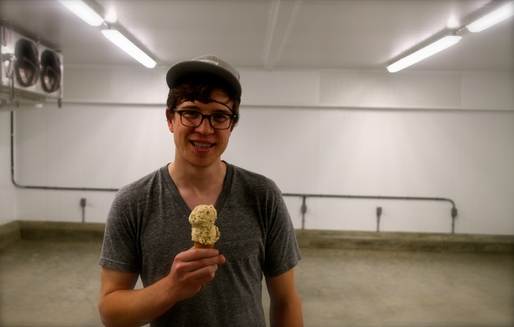Tyler Malek, the co-founder/head ice cream maker for the ice cream shop, Salt and Straw.