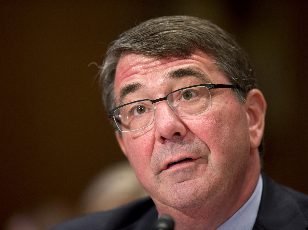 FILE: Defense Secretary Ash Carter testifies on Capitol Hill in Washington, earlier this month.