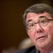 "Defense Secretary Ash Carter testifies on Capitol Hill in Washington, earlier this month. In an interview on CNN today, Carter complained that Iraqi forces lacked ""the will to fight"" the self-declared Islamic State."