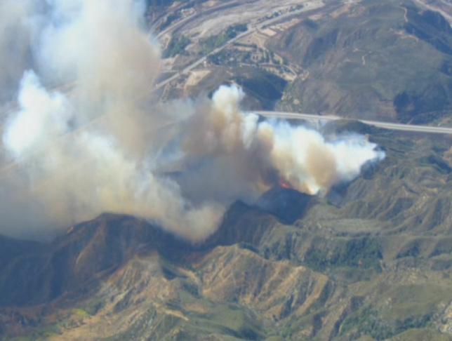 A wildfire burns in San Bernardino County Monday, Nov. 5, 2012.