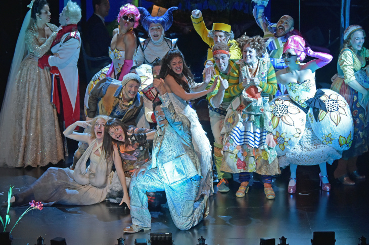 The cast of The Wallis Annenberg Center for the Performing Arts's production of