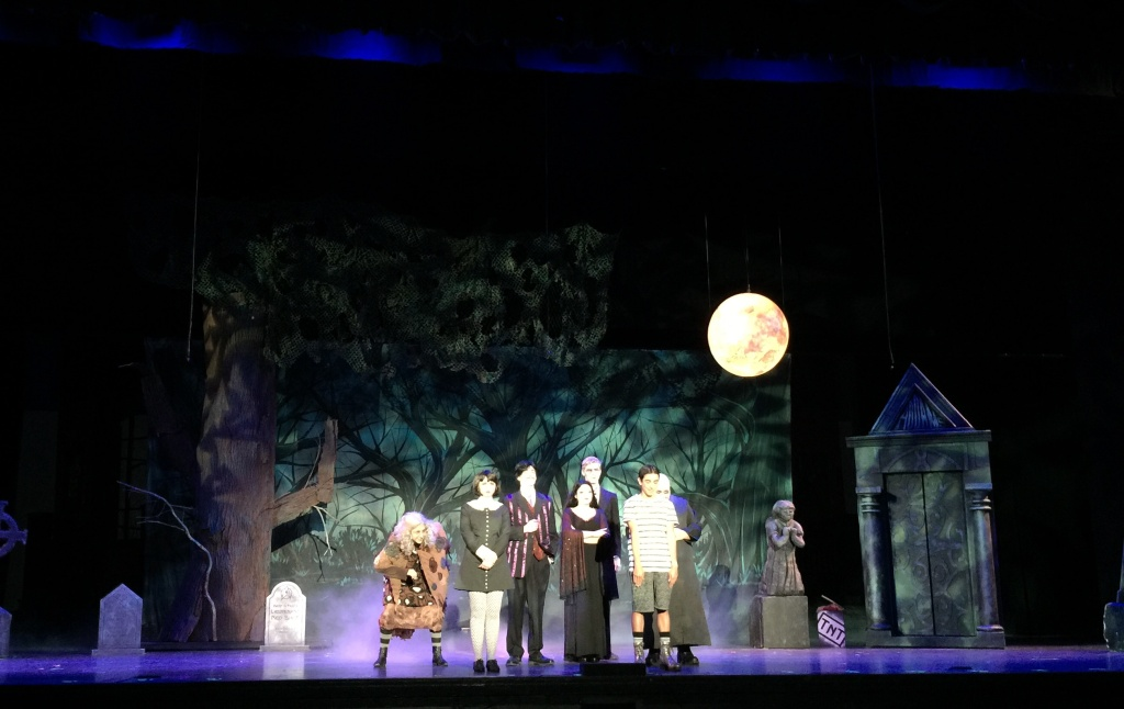 Students at Claremont High School perform as the Addams family.