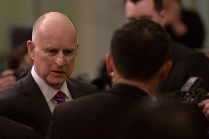 Jerry Brown speaks at the inaugural for his fourth and final term on Monday, January 5, 2014.