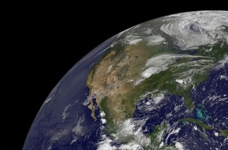 The Earth as seen from space.