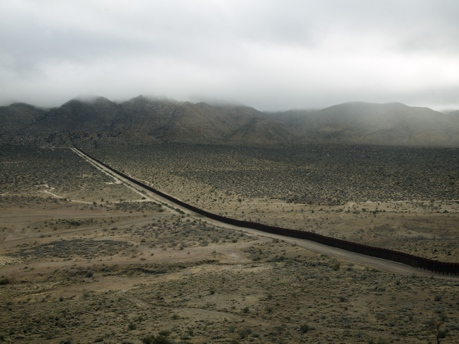 The Wall, Jacumba, California, 2009 © Richard Misrach, courtesy Fraenkel Gallery, San Francisco, Pace/MacGill Gallery, New York and Marc Selwyn Fine Art, Los Angeles