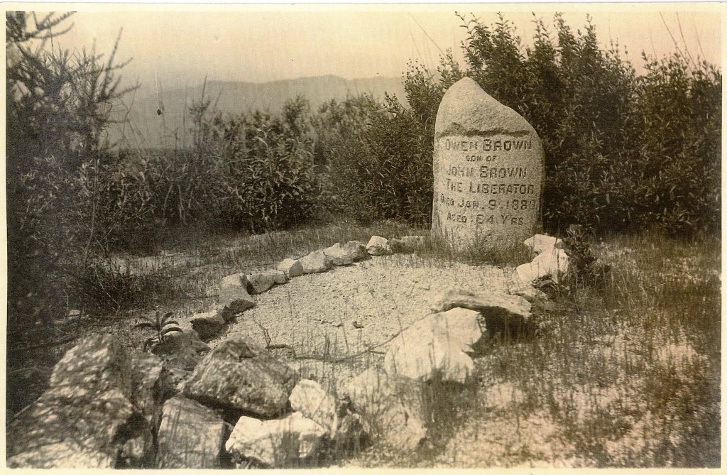 Owen Brown's grave, photographed in 1907