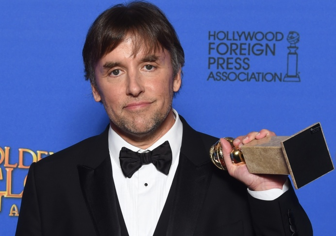 Director Richard Linklater poses with the award for Best Director - Motion Picture for