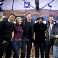 (L-R) Director Nate Parker, actors Armie Hammer, Penelope Ann Miller, Chike Okonkwo, producers Jason Berman, Kevin Turen, and Aaron L. Gilbert discuss 'The Birth of a Nation.'
