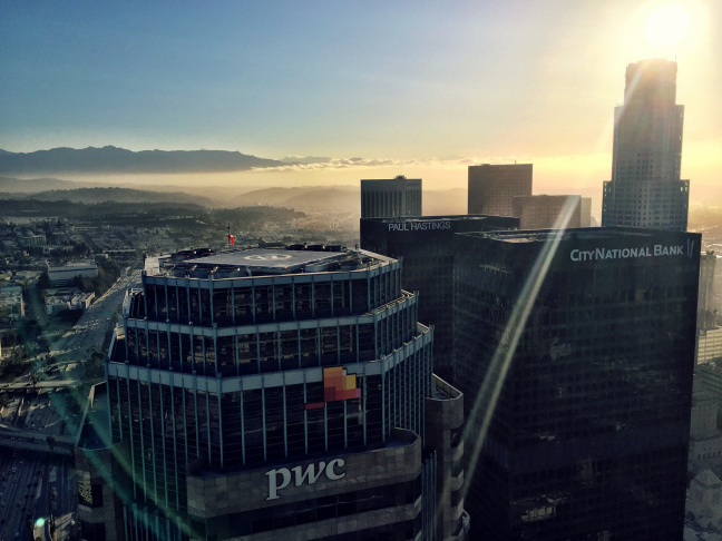 View from the 69th floor of the Wilshire Grand in Downtown Los Angeles