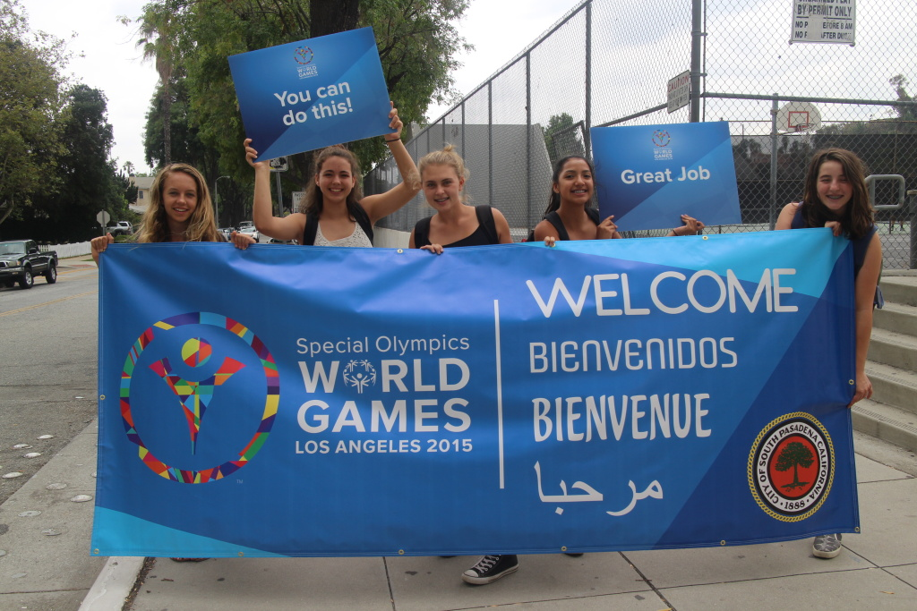 South Pasadena welcomes its host team for the Special Olympics.