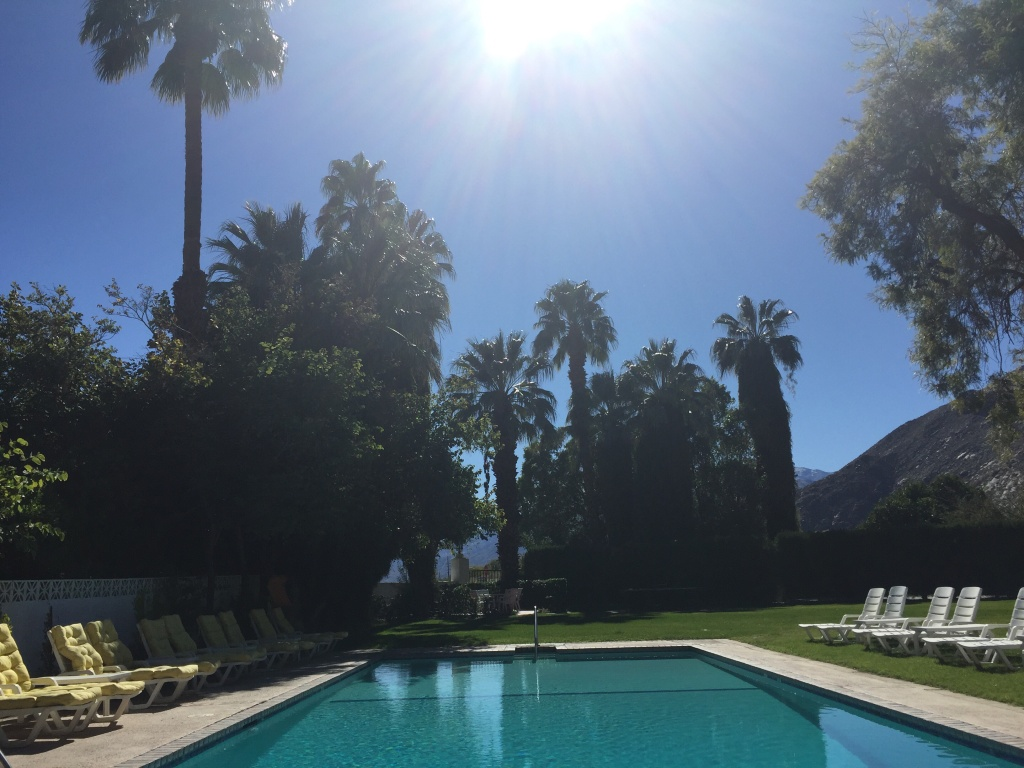 File: The swimming pool at the Ingleside Inn in Palm Springs.
