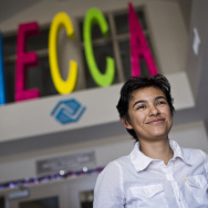 Recent high school graduate Cynthia Portillo, 17, of Mecca became interested in environmental justice during her junior year. The Mecca Boys & Girls Club is a common meeting place for the GREAT Sierra Alliance.