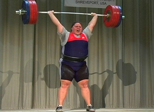 Haworth breaks PanAmerican record at the 2005 Pan American Championships, lifting 352 pounds