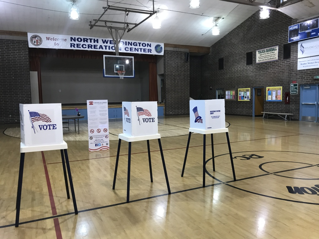 A voting location in North Hollywood during the Los Angeles city election on May 16, 2017.
