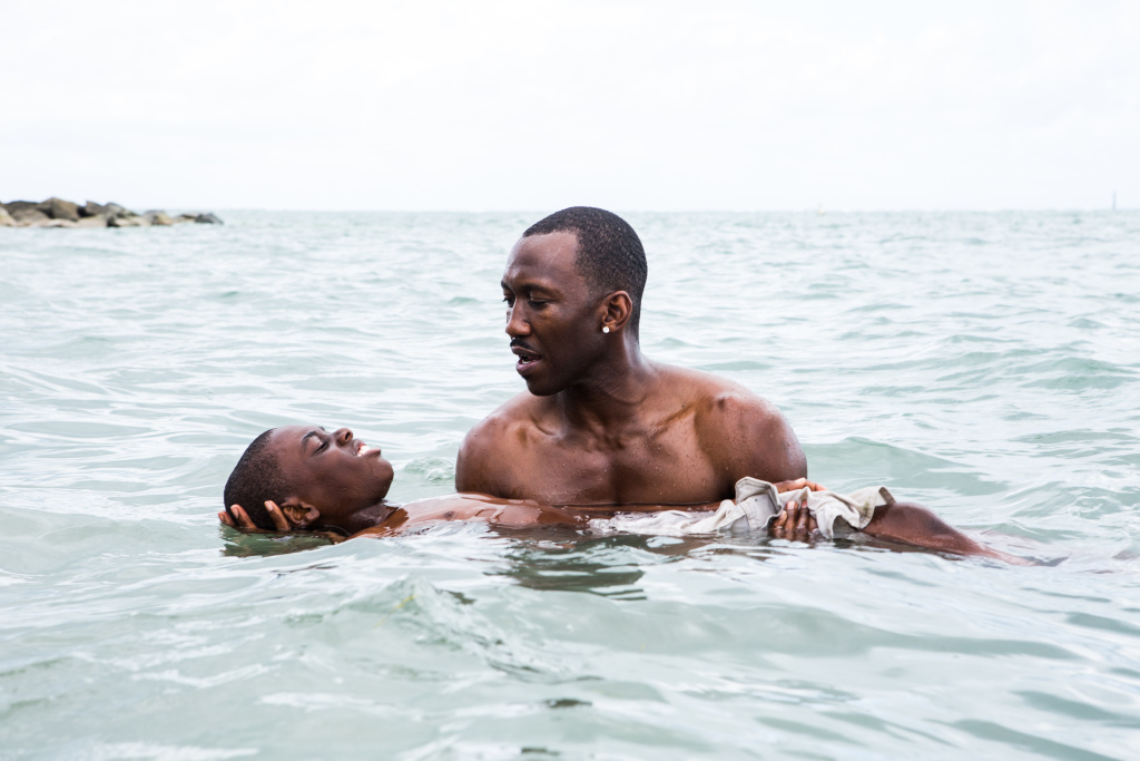 "Alex R. Hibbert (left) and Mahershala Ali star in the new drama ""Moonlight."""