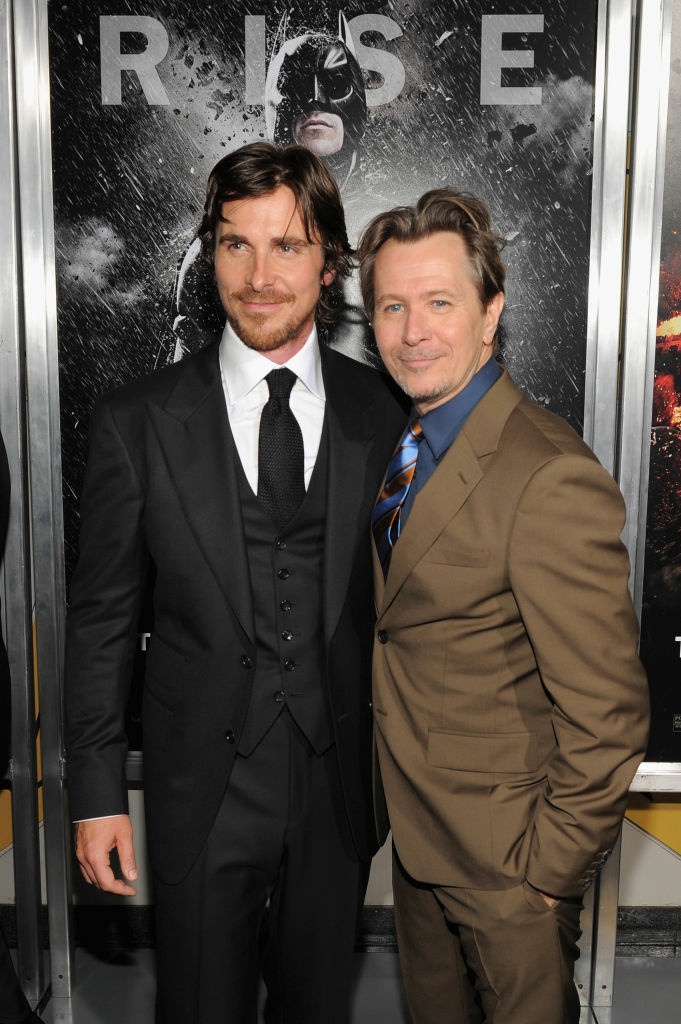 NEW YORK, NY - JULY 16:  Actors Christian Bale and Gary Oldman attend
