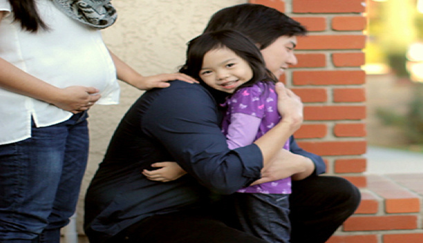 Korean American Family Services is among the community organizations working with the county to recruit Korean foster parents. Pictured is a scene from a Korean-language public service announcement.