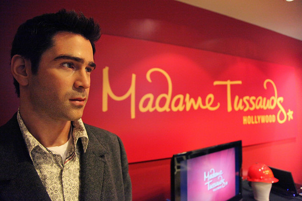 A wax figure of actor Colin Farrell is seen greeting visitors at Madame Tussauds Hollywood.