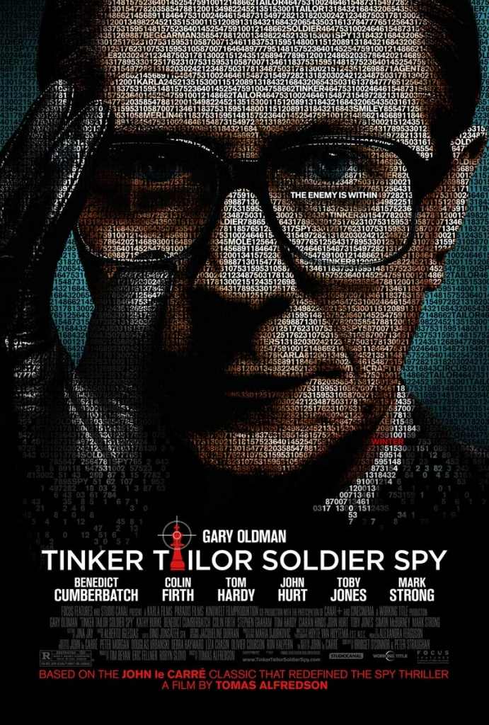 """Tinker Tailor Soldier Spy,"" was written by Bridget O'Connor, Peter Straughan and John le Carre (novel)."