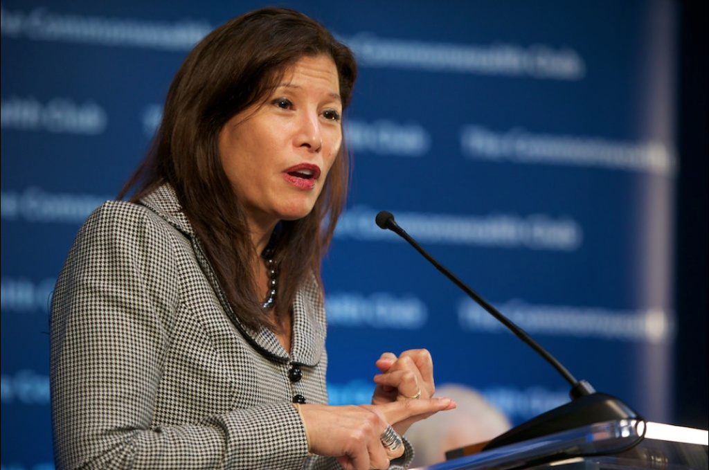 California Supreme Court Chief Justice Tani Cantil-Sakauye objects to cuts that include closing 56 courtrooms and firing nearly 350 people by the end of this month.