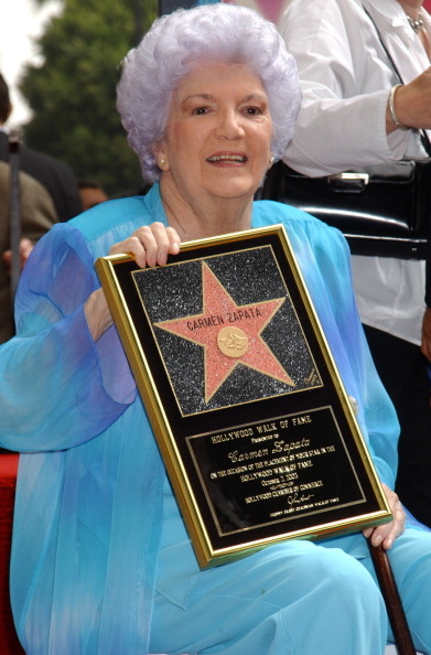 Carmen Zapata got a star on the Hollywood Walk of Fame in 2003.