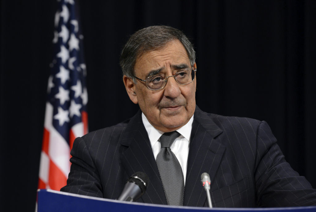 US Defense Secretary Leon Panetta talks to the media after a meeting of NATO defence ministers at the NATO headquarters in Brussels on October 10, 2012. Countering deadly insider attacks by Afghan forces on their NATO allies is a key element for success in Afghanistan, Panetta said as the death toll mounts.