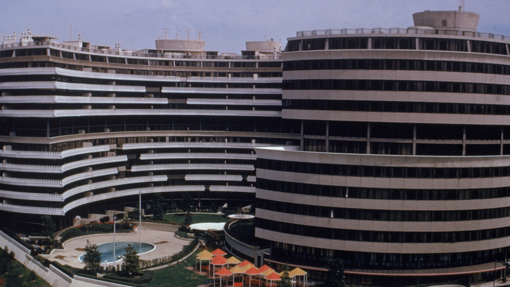 The Watergate Complex in Washington, D.C. housed the Democratic National Committee's headquarters in 1972.
