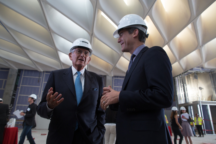 Eli Broad Eric Garcetti The Broad