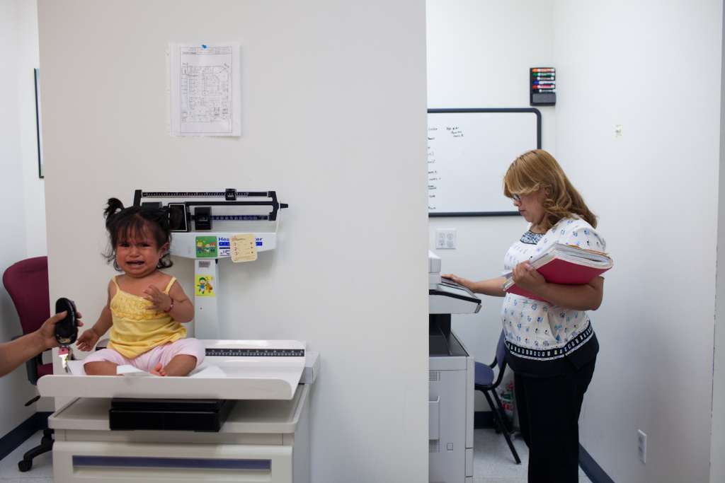 A young patient at South Central Family Health Center in South Los Angeles. Fewer than one in five health insurance plans in the U.S. were found to cover pediatric care in a recent analysis by HealthPocket.