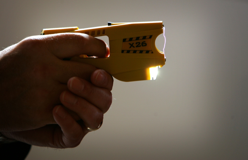 File: An X26 stun gun. Stun guns are legal and are sometimes used in robberies, though police say firearms and knives are more common weapons.
