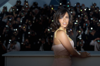 Actress Salma Hayek poses during the closing ceremony at the 63rd Cannes Film Festival on May 23, 2010 in Cannes.