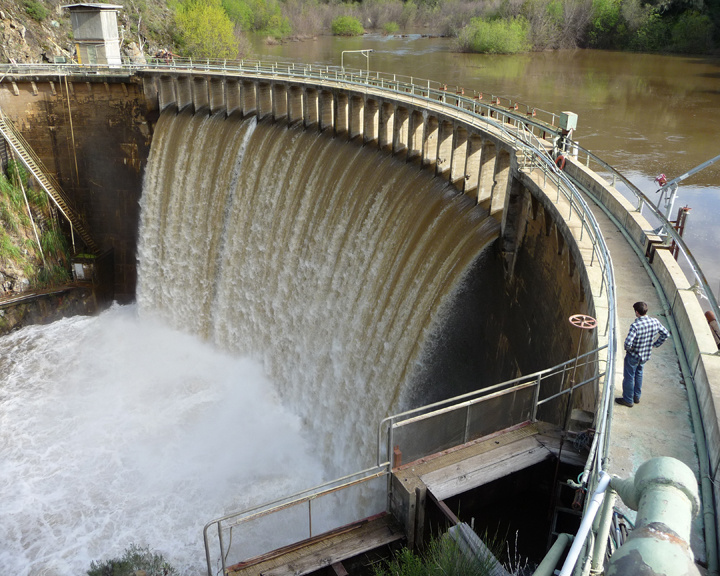 Image of San Clemente Dam.