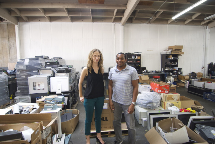 Isidore Recycling co-founders Kabira Stokes and Aaron Malloy