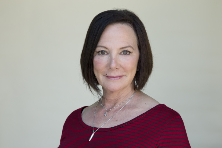 Marcia Clark, formerly the lead prosecutor of the O.J. Simpson murder case, at KPCC's studios on April 22nd, 2016.