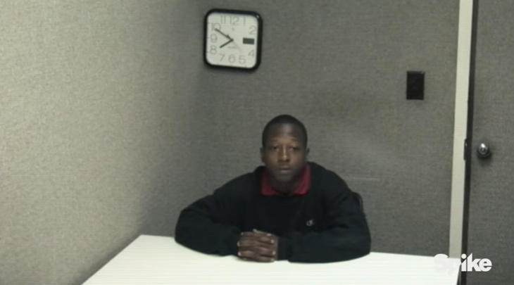 Footage of 16-year-old Kalief Browder's questioning on May 15, 2010 from the documentary series