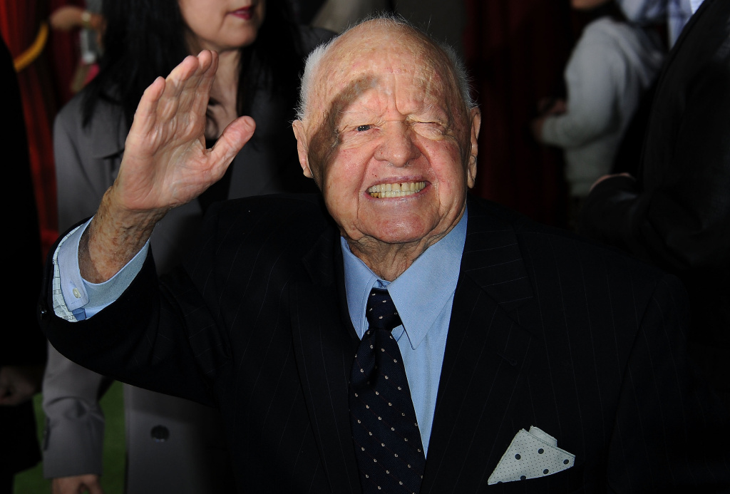 Actor Mickey Rooney arrives for the premiere of Walt Disney Pictures' 'The Muppets' at the El Capitan Theatre in Hollywood on November 12, 2011.