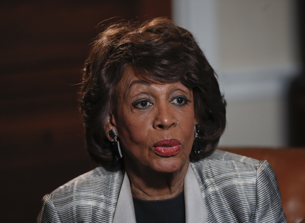 Democratic Rep. Maxine Waters of Los Angeles speaks during her interview with the Associated Press at her congressional office on Capitol Hill in Washington on March 23, 2017.