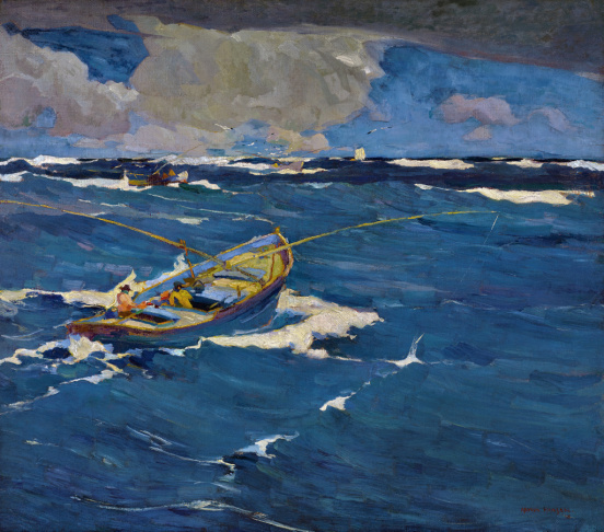 Armin Hansen, Nino, c. 1919. Oil on canvas, 50 x 60 in. Monterey Museum of Art. Gift of Jane and Justin Dart.