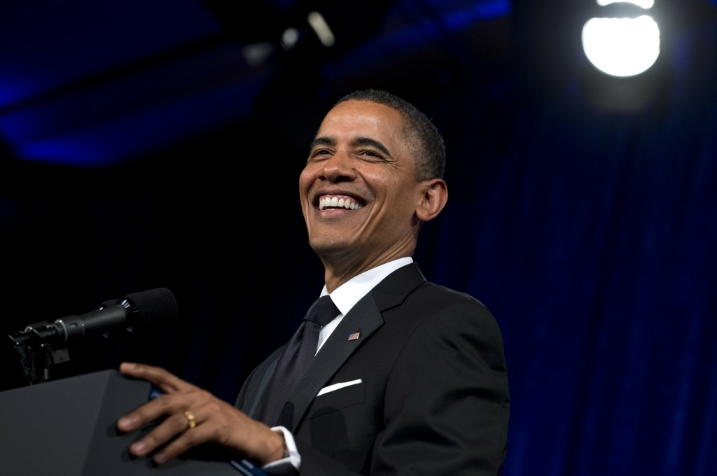 President Barack Obama speaks during the Asian Pacific American Institute for Congressional Studies (APAICS) 18th Annual Gala Dinner in Washington, DC, May 8, 2012.
