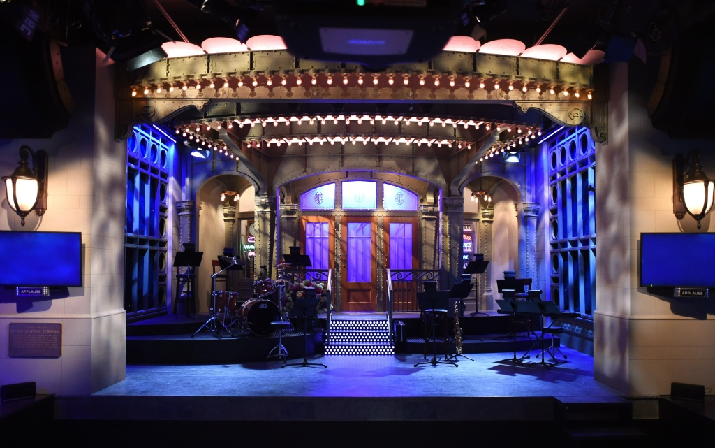 File: The SNL stage on  display during a media preview on May 29, 2015 at the Saturday Night Live: The Exhibition, celebrating the NBC programs 40-year history.