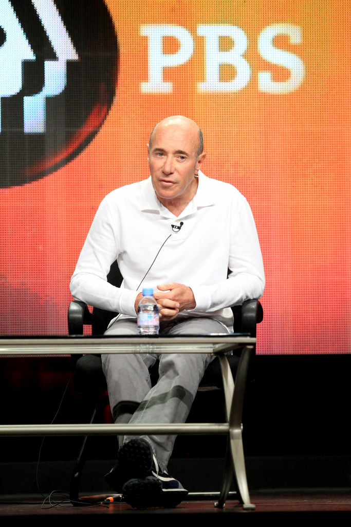 "Record executive, producer, and philanthropist David Geffen speaks onstage at the ""American Masters Inventing David Geffen"" panel in July in Los Angeles."