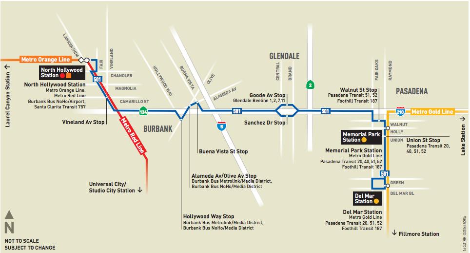 Audio Metro Extends Noho To Pasadena Express Bus Pilot